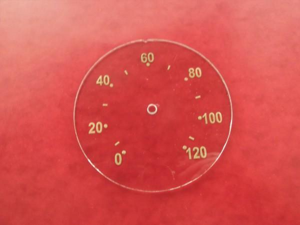 Tachoscheibe Goldpunkt 120 km/h