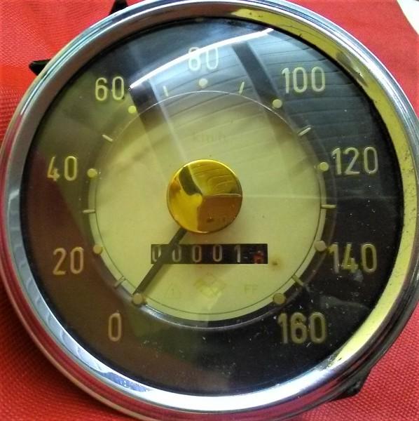 Tachometer 160 km/h Goldpunkt