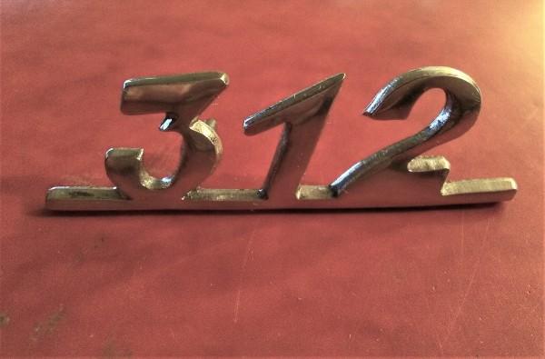 Emblem Schriftzug 312 Wartburg 312