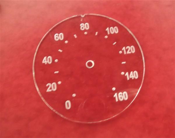 Tachoscheibe Silberpunkt 160 km/h