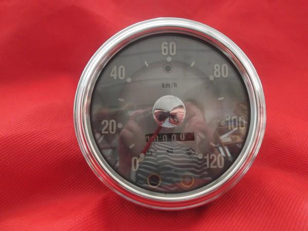 Tachometer 120 km/h Silberpunkt