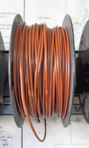 Kabel , Fahrzeugleitung braun