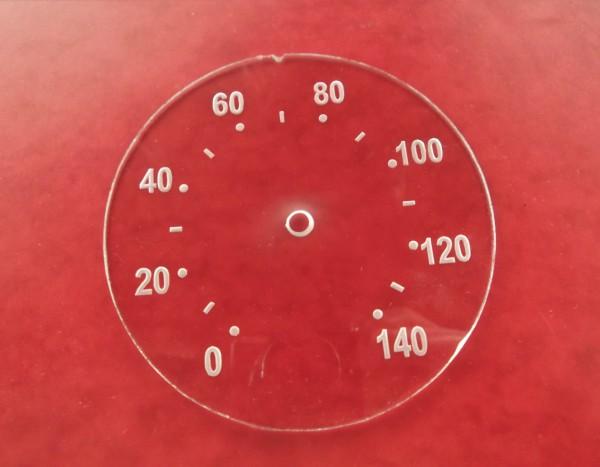 Tachoscheibe Silberpunkt 140 km/h