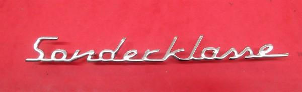 Schriftzug Sonderklasse DKW