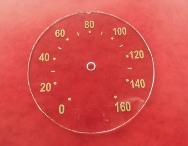 Tachoscheibe Goldpunkt 160 km/h