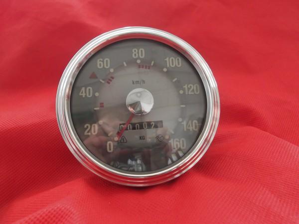 Tachometer 160 km/h Silberpunkt
