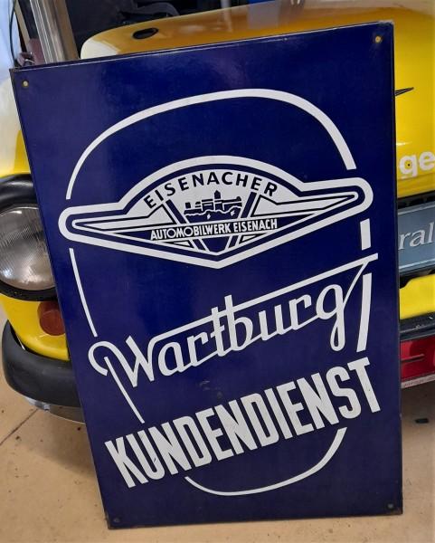 Emailleschild Wartburg